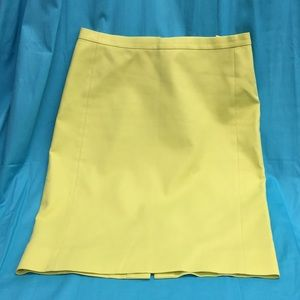 J. Crew Chartreuse Green Cotton Skirt